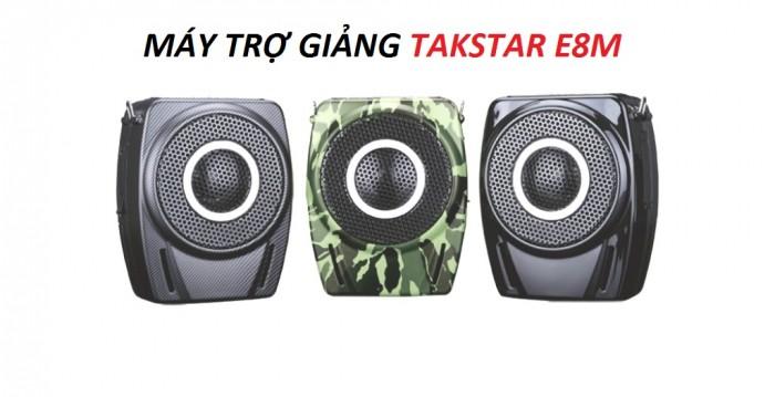 Máy trợ giảng Takstar E8M có 2 màu: màu đen, màu lính4