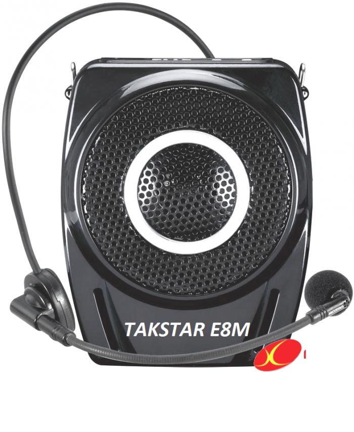 Máy trợ giảng Takstar E8M gồm có: Máy trợ giảng Takstar E8M, Micro gài tai, Sạc 5V, Dây đeo, Kẹp thắt lưng, Sách hướng dẫn. 0