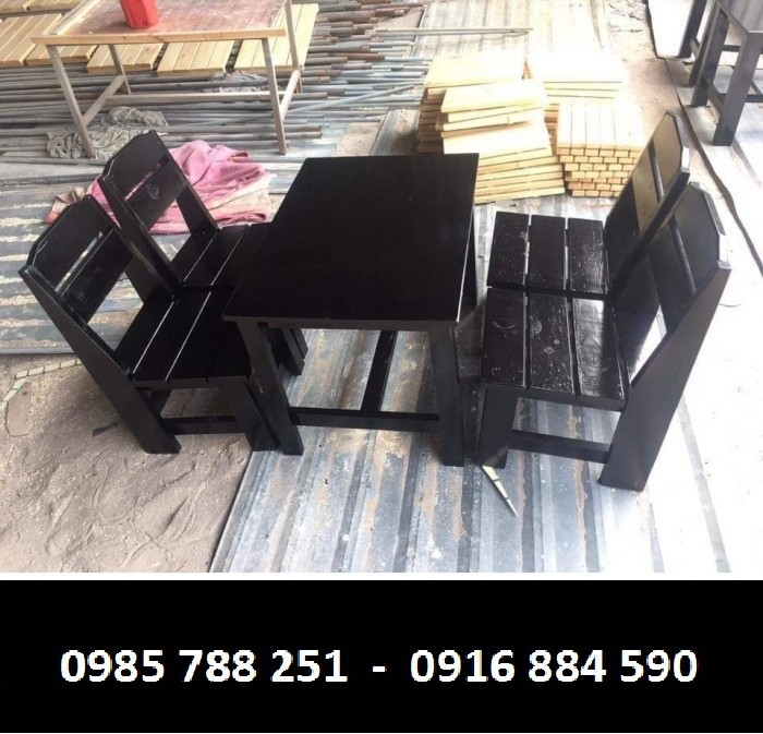 bàn ghế cafe chân gổ mặt miệm làm tại xưởng sãn xuất HGH 82345