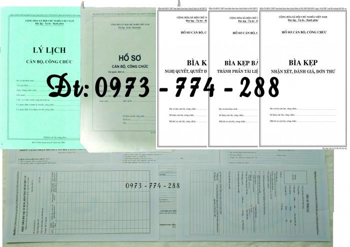 Hồ sơ cán bộ, công chức, mẫu B01-B02-B03-B04-B05-B06 - BNV8