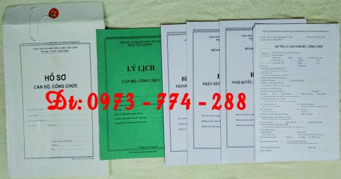 Hồ sơ cán bộ, công chức, mẫu B01-B02-B03-B04-B05-B06 - BNV7