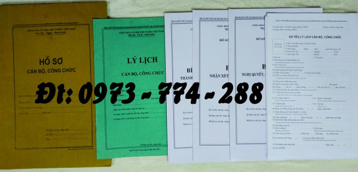 Hồ sơ cán bộ, công chức, mẫu B01-B02-B03-B04-B05-B06 - BNV4