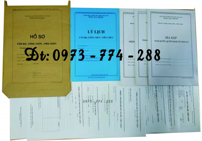 Hồ sơ cán bộ, công chức, mẫu B01-B02-B03-B04-B05-B06 - BNV3