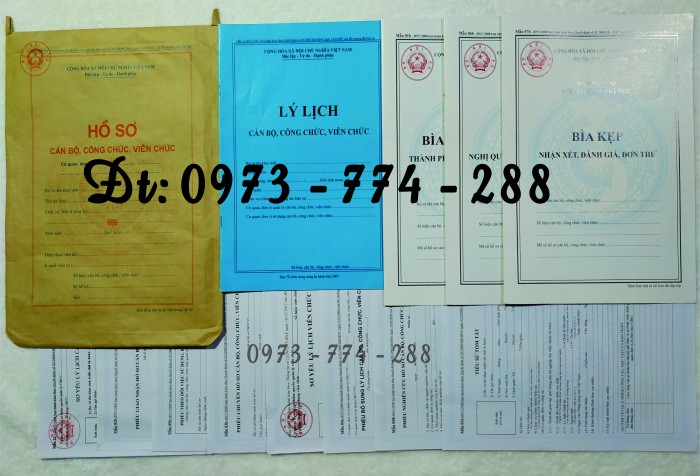 Hồ sơ cán bộ, công chức, mẫu B01-B02-B03-B04-B05-B06 - BNV2