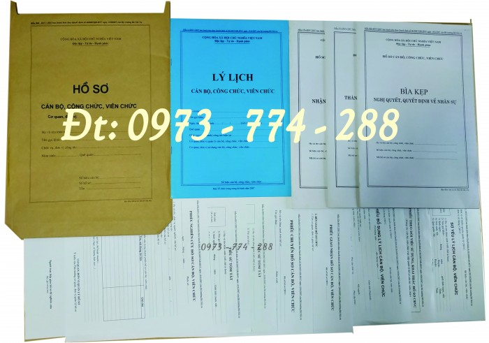 Hồ sơ cán bộ, công chức, mẫu B01-B02-B03-B04-B05-B06 - BNV1