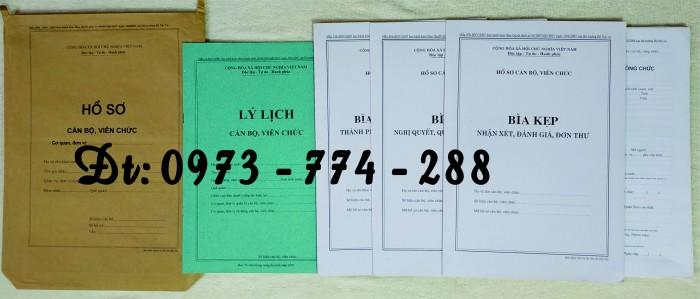 Hồ sơ cán bộ, công chức, mẫu B01-B02-B03-B04-B05-B06 - BNV0