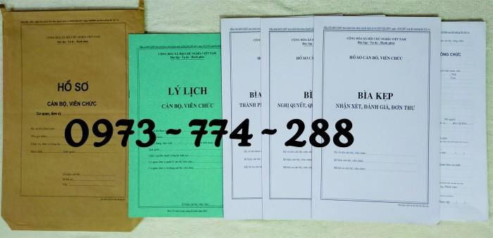 Hồ sơ cán bộ Viên chức (Mẫu HS09a-VC/BNV - B01/BNV - B02/BNV - B03/BNV - B04/BNV - B05/BNV)9