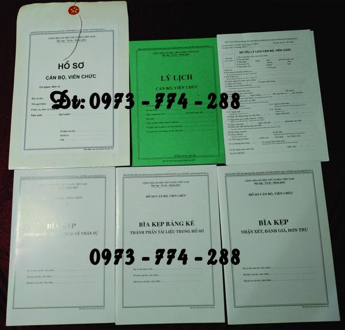 Hồ sơ cán bộ Viên chức (Mẫu HS09a-VC/BNV - B01/BNV - B02/BNV - B03/BNV - B04/BNV - B05/BNV)8