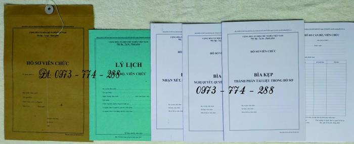 Hồ sơ cán bộ Viên chức (Mẫu HS09a-VC/BNV - B01/BNV - B02/BNV - B03/BNV - B04/BNV - B05/BNV)7