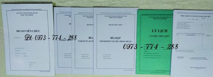Hồ sơ cán bộ Viên chức (Mẫu HS09a-VC/BNV - B01/BNV - B02/BNV - B03/BNV - B04/BNV - B05/BNV)6