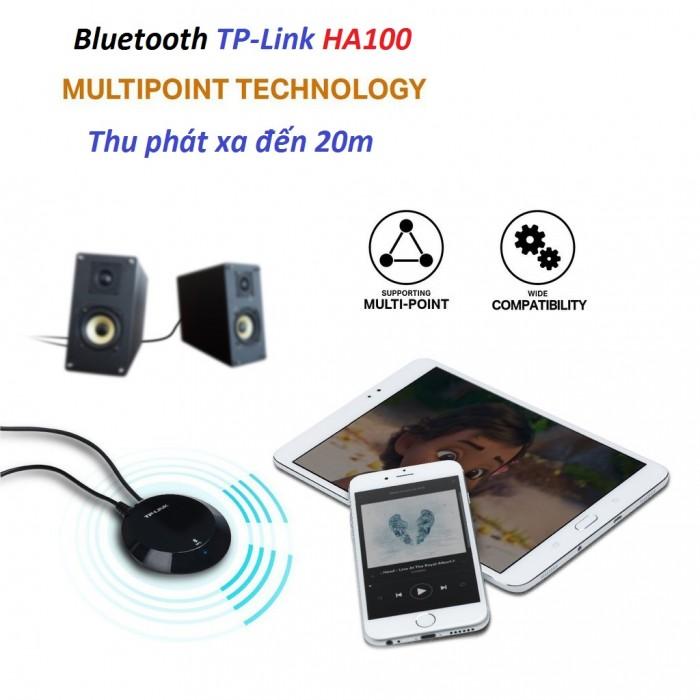 Thiết bị thu bluetooth TP-Link HA100 Khả năng lưu lại thông tin của 8 thiết bị kết nối bluetooth cùng một lúc, 0