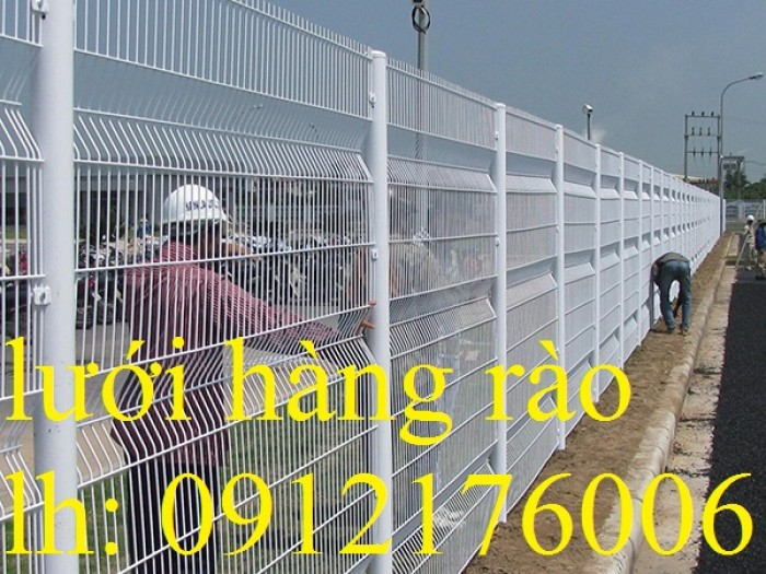 Hàng rào lưới thép hàn D5 a 50x150 mạ kẽm sơn tĩnh điện2