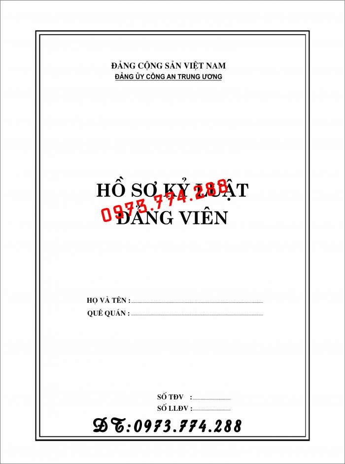 Bìa hồ sơ viên chức1