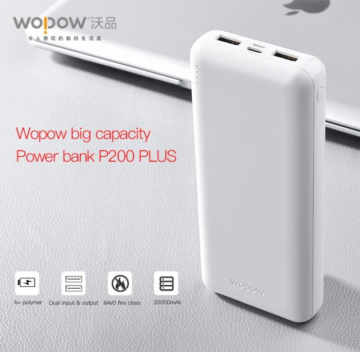 Cần bán pin dự phòng wopow P200plus 20000mah chính hãng5