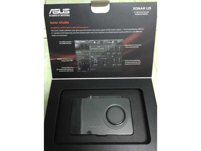 sound car USB XONAR U5 full box 99,9%0