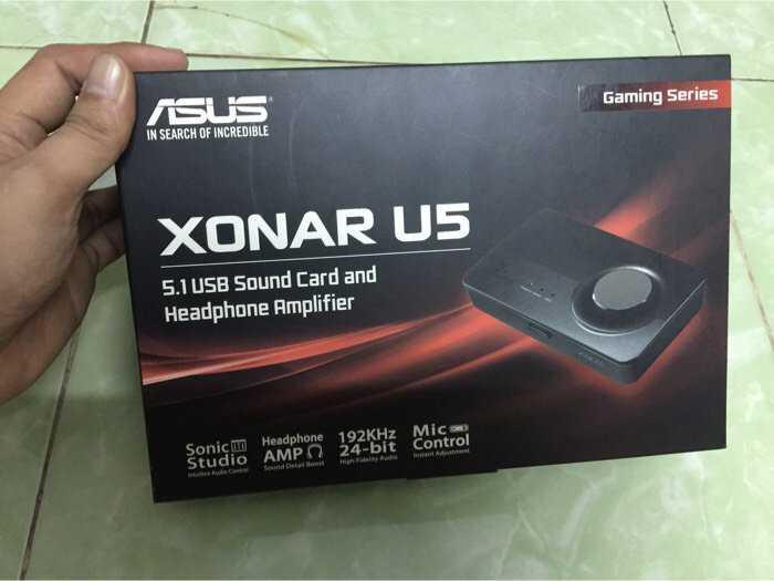 sound car USB XONAR U5 full box 99,9%1
