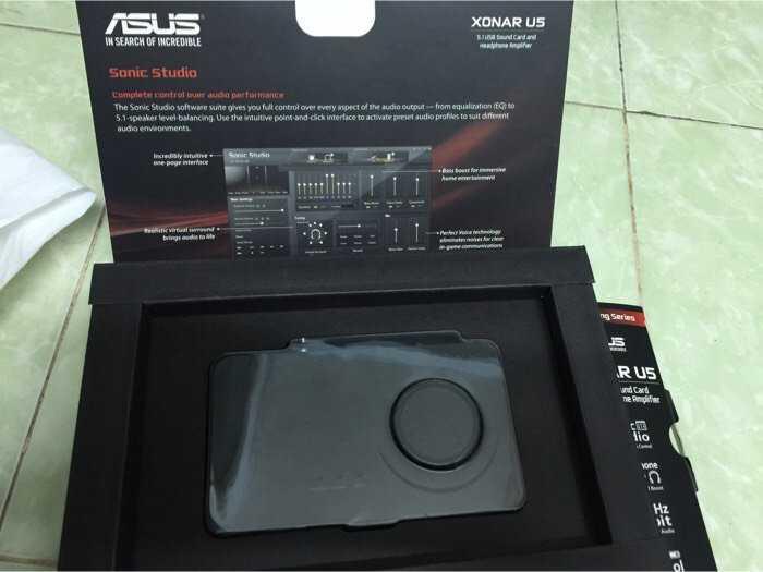sound car USB XONAR U5 full box 99,9%2