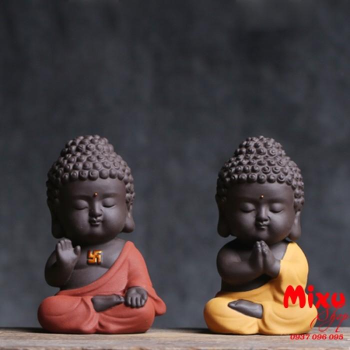 Tượng chibi Phật A Di Đà bằng gốm tử sa19