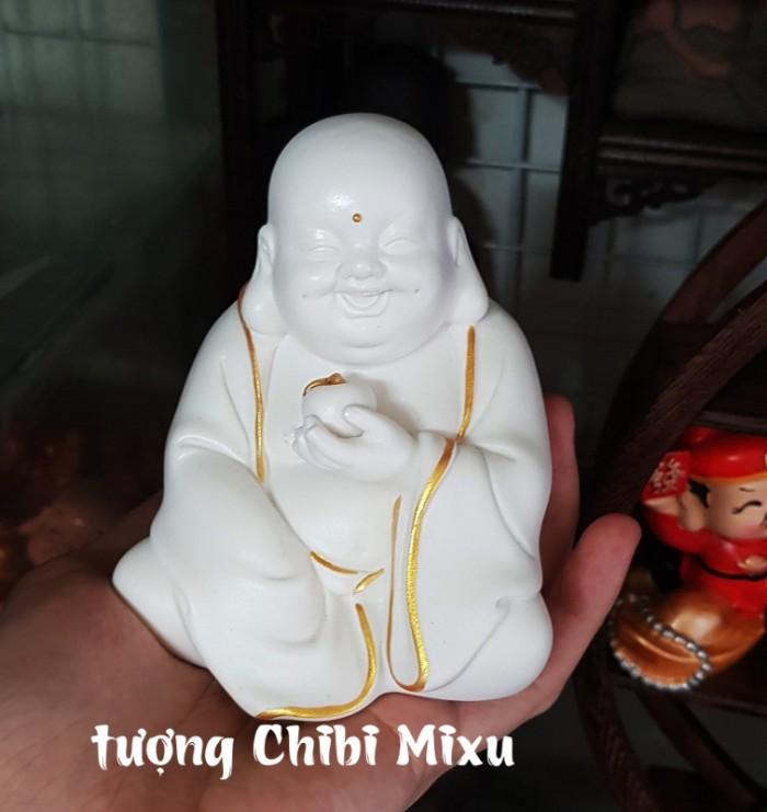 Tượng Tiếu Phật gốm trắng8