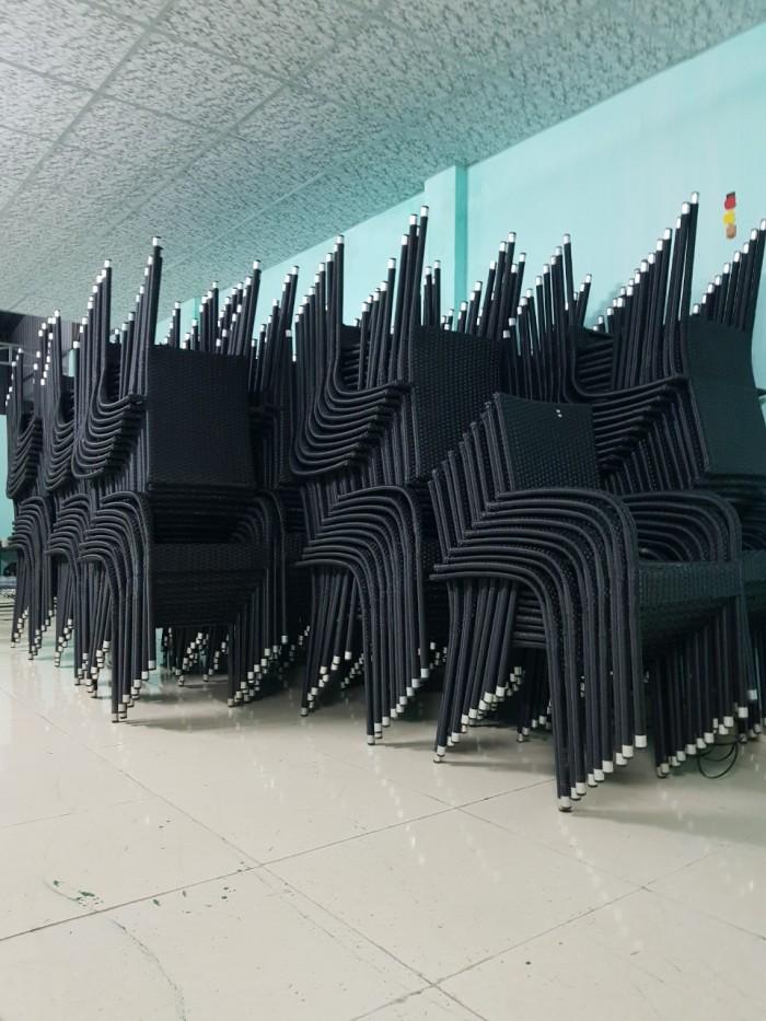 Xưởng sản xuất bàn ghế giả mây