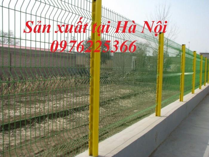 Hàng rào lưới sơn tĩnh điện, hàng rào mạ kẽm, lưới thép hàn4