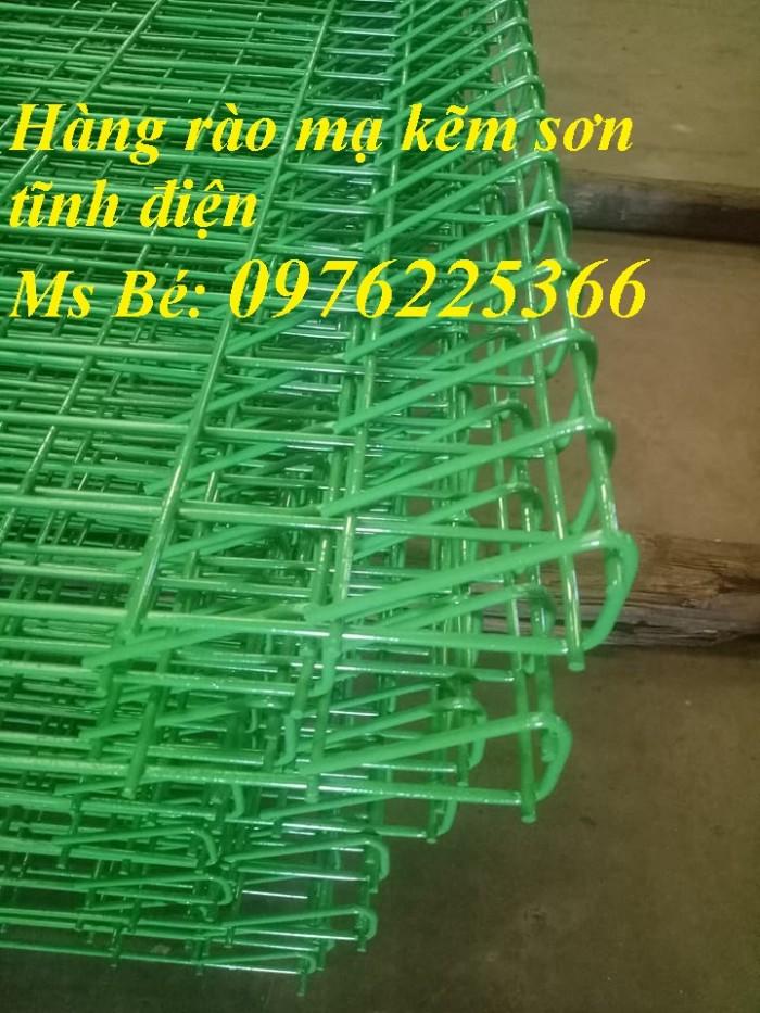 Hàng rào lưới sơn tĩnh điện, hàng rào mạ kẽm, lưới thép hàn2