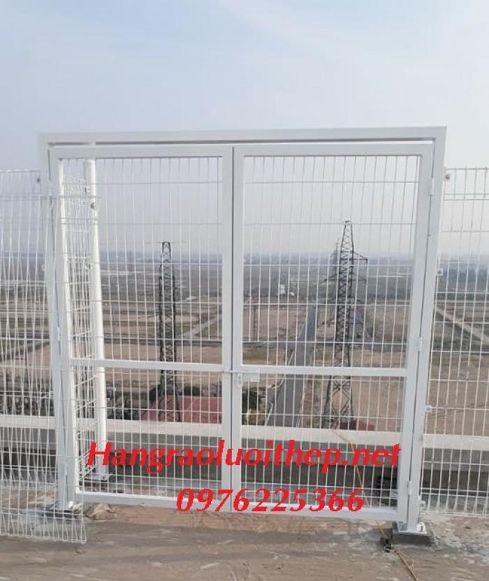 Lưới hàn sơn tĩnh điện, Lưới thép hàng rào mạ kẽm4