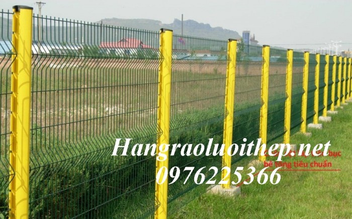 Lưới hàn sơn tĩnh điện, Lưới thép hàng rào mạ kẽm2