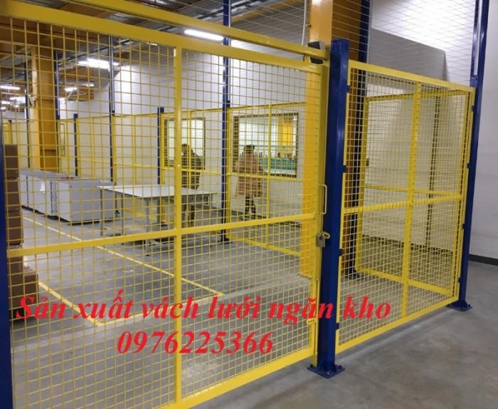 Hàng rào bảo vệ, hàng rào di động, khung lưới ngăn kho4