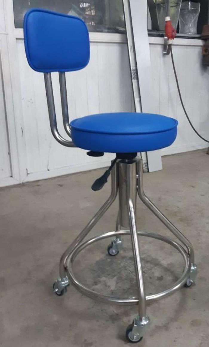 Ghế thí nghiệm có tựa inox 304 (bọc đệm)0