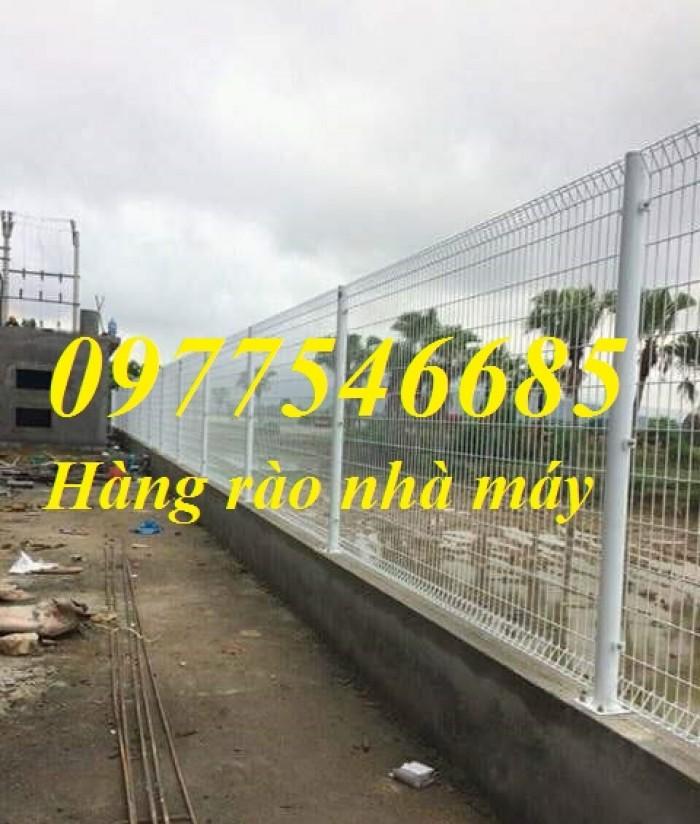 Hàng rào mạ kẽm gập hai đầu , hàng rào sơn tĩnh điện2