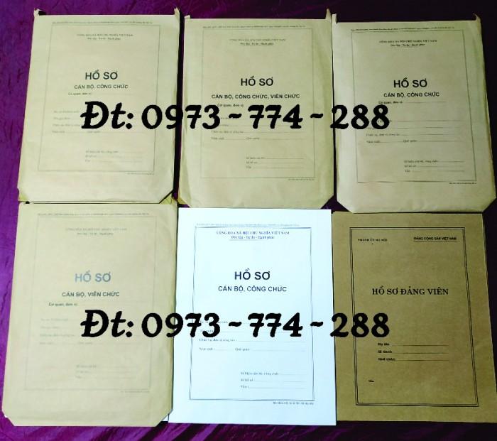 Túi hồ sơ công chức viên chức mẫu B010