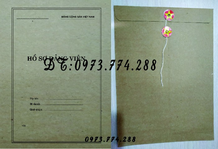 Túi hồ sơ công chức mẫu b0118