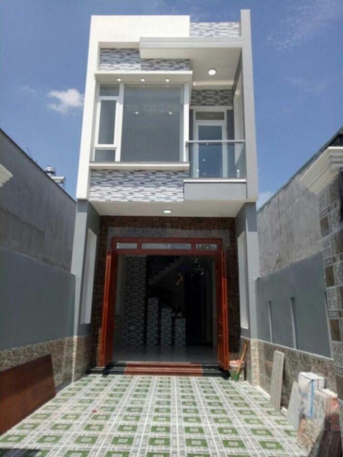 Nhà 1 trệt 1 lầu đường Dương Công Khi, sổ hồng riêng, Hóc Môn