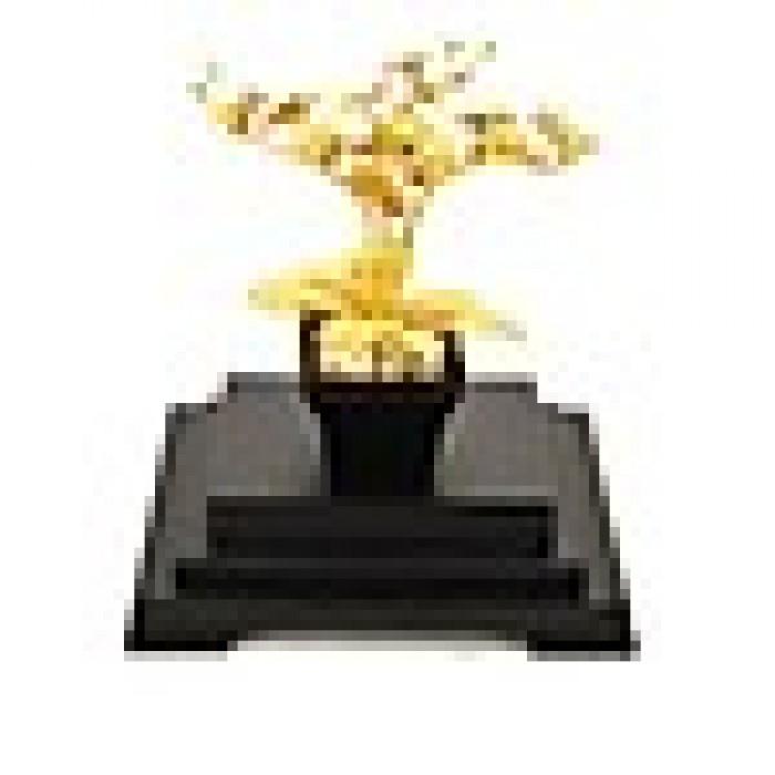 Mô hình hoa lan mạ vàng 24k2