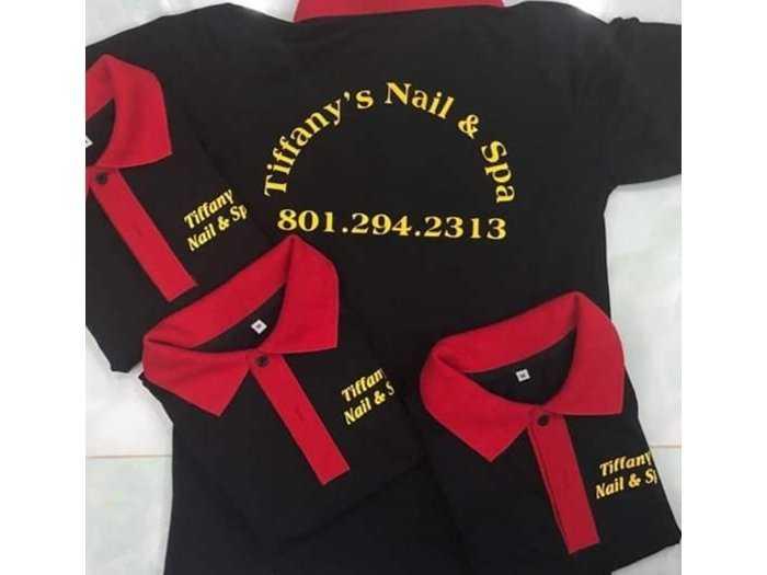 Áo thun in logo tiệm nail