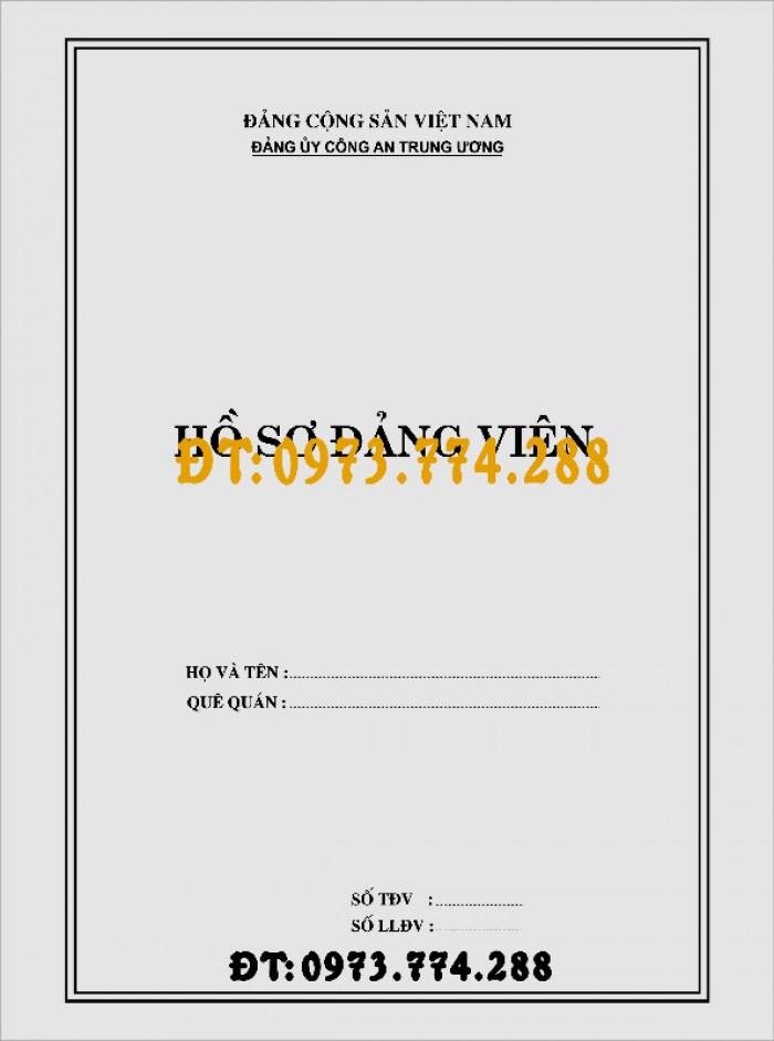 Quyển lý lịch của người xin vào Đảng mẫu 2-KNĐ15