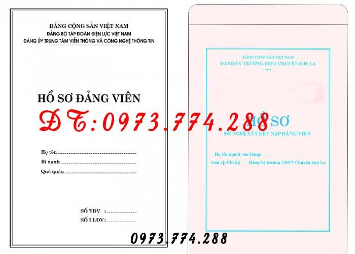 Quyển lý lịch của người xin vào Đảng mẫu 2-KNĐ17