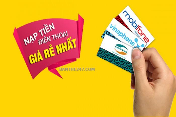 Nạp thẻ điện thoại chiết khấu cao từ 10-15%1