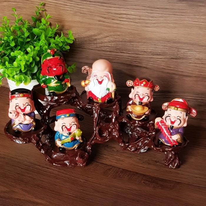 Bộ tượng Ngũ Phúc - Phúc Lộc Thọ Tài Hỷ 6cm11