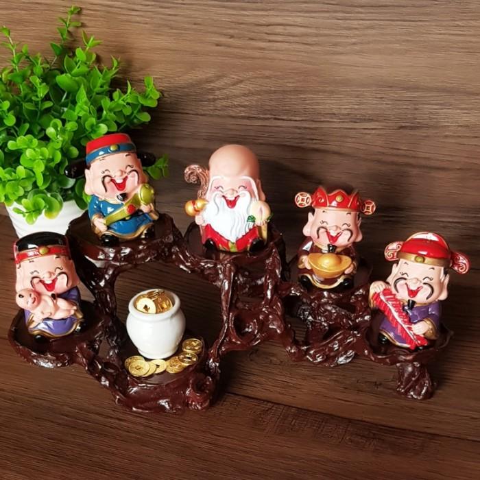 Bộ tượng Ngũ Phúc - Phúc Lộc Thọ Tài Hỷ 6cm13