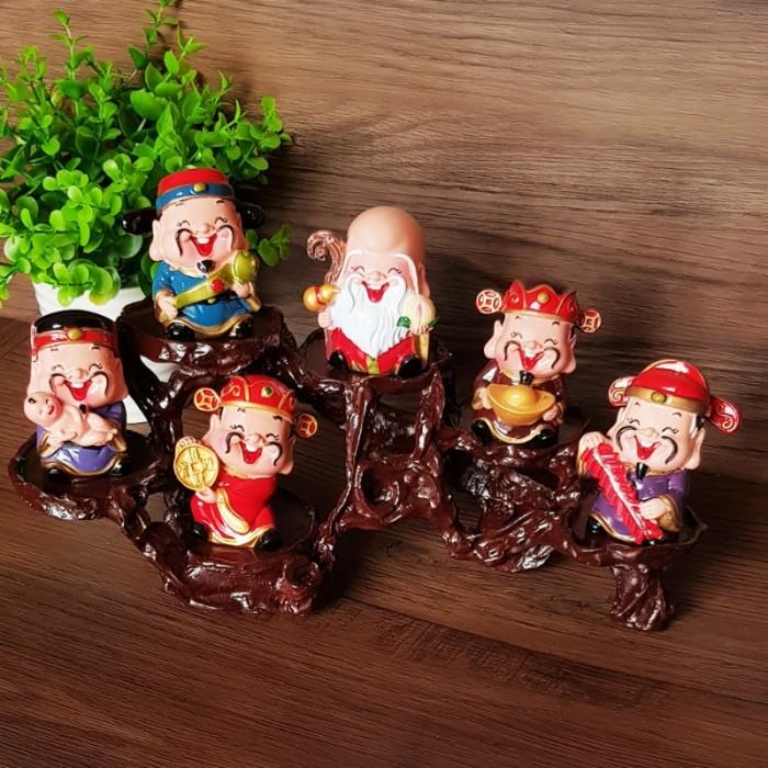 Bộ tượng Ngũ Phúc - Phúc Lộc Thọ Tài Hỷ 6cm16