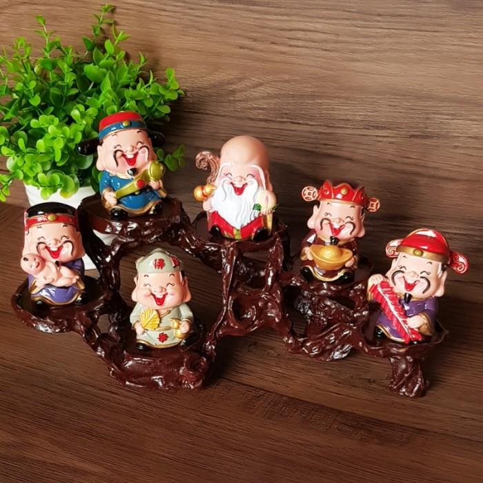 Bộ tượng Ngũ Phúc - Phúc Lộc Thọ Tài Hỷ 6cm24