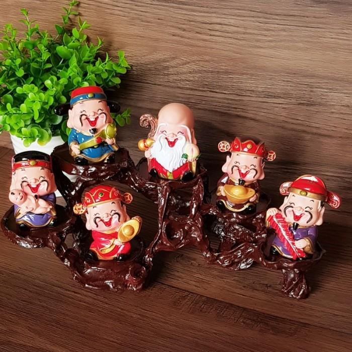Bộ tượng Ngũ Phúc - Phúc Lộc Thọ Tài Hỷ 6cm18