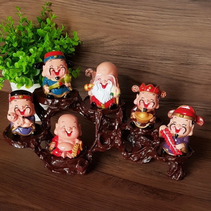 Bộ tượng Ngũ Phúc - Phúc Lộc Thọ Tài Hỷ 6cm26