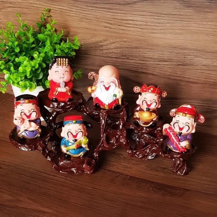 Bộ tượng Ngũ Phúc - Phúc Lộc Thọ Tài Hỷ 6cm21