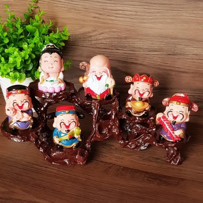Bộ tượng Ngũ Phúc - Phúc Lộc Thọ Tài Hỷ 6cm19