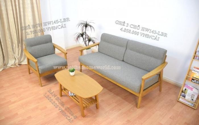 Sofa đơn khung gỗ hw145 - homeworld17