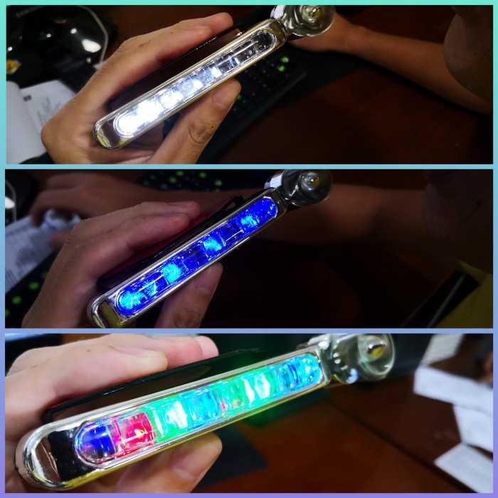 Tên sản phẩm: Đèn chạy xe ban ngày   Chất liệu: Nhựa, Mạ điện   Số lượng: 2 sản phẩm cùng màu    Kích thước: 12cm x 2cm x 4cm1