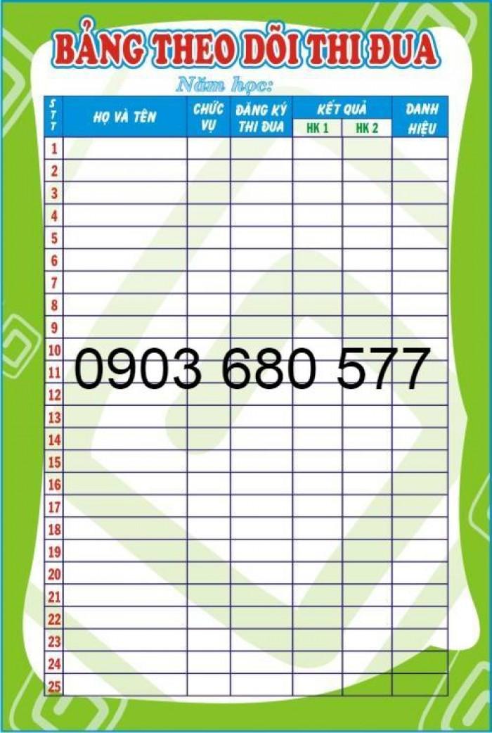 Cung cấp bảng biểu cho trường lớp mầm non giá rẻ17